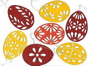 Изготовление пасхальных яиц из картона. Декор на Пасху. Ярмарка Мастеров - ручная работа, handmade.