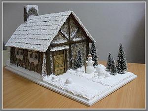 Коллекционная кукольная миниатюра «Альпийская хижина». Ярмарка Мастеров - ручная работа, handmade.