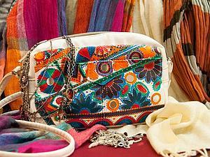 Роспись сумки акриловыми красками в стиле бохо | Ярмарка Мастеров - ручная работа, handmade