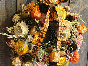 Осенний вальс: мастерим венок из природных материалов. Ярмарка Мастеров - ручная работа, handmade.
