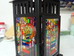 Расписываем фонарик витражными красками. Ярмарка Мастеров - ручная работа, handmade.