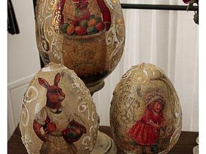 Пасхальное яйцо,состаренное с объемным вензелем   Ярмарка Мастеров - ручная работа, handmade