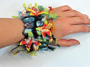 Браслет в технике шибори, Москва   Ярмарка Мастеров - ручная работа, handmade