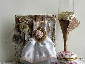 Делаем свадебную открытку почти без скрап-материалов. Ярмарка Мастеров - ручная работа, handmade.