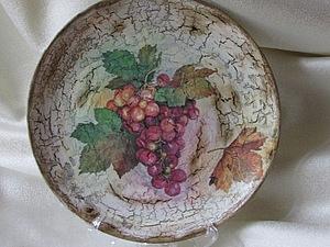 Декорируем тарелочку в технике декупаж. Ярмарка Мастеров - ручная работа, handmade.