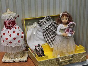 Девочка в чемодане. С одеждой   Ярмарка Мастеров - ручная работа, handmade
