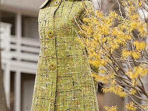 """Создаем неповторимый """"твид"""". Декорируем цельноваляное пальто, жакет, сарафан. Ярмарка Мастеров - ручная работа, handmade."""