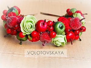 Делаем ягодный ободок своими руками. Ярмарка Мастеров - ручная работа, handmade.