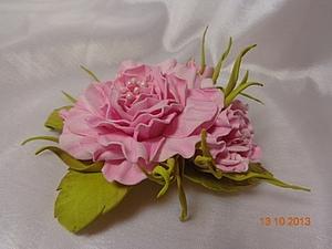 Цветок из пластичной замши | Ярмарка Мастеров - ручная работа, handmade