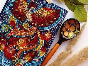 Превращаем обычный ежедневник в сказочный: украшаем блокнот вышивкой Жар-Птицы. Ярмарка Мастеров - ручная работа, handmade.