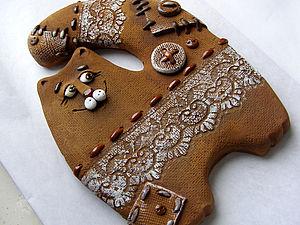 керамический кот  Прянечка | Ярмарка Мастеров - ручная работа, handmade