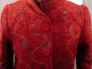Изготовление деталей для пошива пальто в технике крейзи-вул | Ярмарка Мастеров - ручная работа, handmade