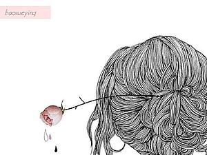 Девушка с цветком в волосах (реальная история) | Ярмарка Мастеров - ручная работа, handmade
