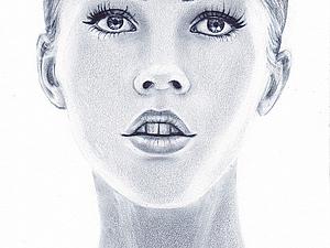 Портрет в технике сухая кисть. Ярмарка Мастеров - ручная работа, handmade.