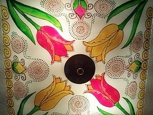 Роспись плафона для кухни.. Ярмарка Мастеров - ручная работа, handmade.