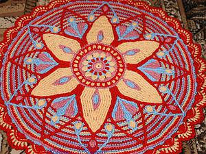 Вяжем крючком коврик-мандалу. Часть 1 | Ярмарка Мастеров - ручная работа, handmade