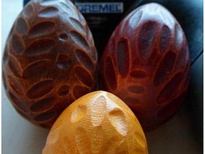 Имитация резьбы по дереву на примере деревянных яиц. Ярмарка Мастеров - ручная работа, handmade.
