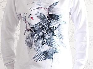 Распродажа свитшотов с принтами   Ярмарка Мастеров - ручная работа, handmade