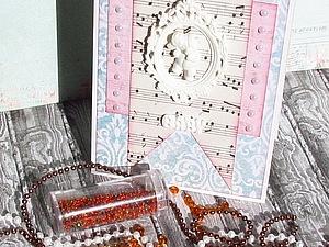 Использование бисера в скрапбукинге. Ярмарка Мастеров - ручная работа, handmade.