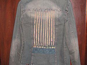 Обновление джинсовой куртки. Ярмарка Мастеров - ручная работа, handmade.