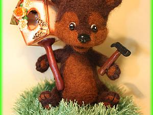 Делаем игрушку «Медвежонок и скворечник». Ярмарка Мастеров - ручная работа, handmade.