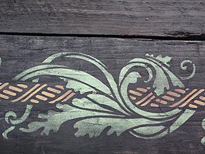 Расписываем стол с помощью трафарета. Ярмарка Мастеров - ручная работа, handmade.