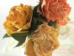 Лепим листики для цветов из фоамирана. Ярмарка Мастеров - ручная работа, handmade.