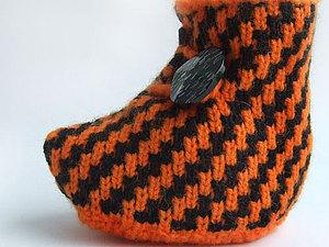 Пинетка машинной вязки типа ботиночек | Ярмарка Мастеров - ручная работа, handmade