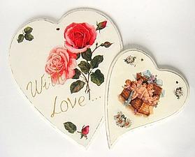 Мастер-класс: сердечки в стиле шебби-шик. Ярмарка Мастеров - ручная работа, handmade.