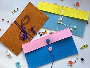 Делаем конверт для денег из фетра. Ярмарка Мастеров - ручная работа, handmade.