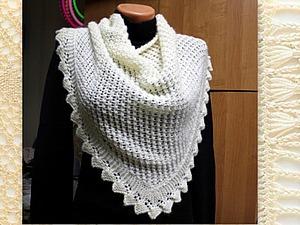 Видео мастер-класс: вяжем красивую ажурную шаль с каймой на спицах. Ярмарка Мастеров - ручная работа, handmade.
