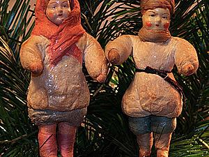 Старинная новогодняя игрушка из ваты   Ярмарка Мастеров - ручная работа, handmade