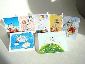 Новые мини-открытки с овечками!   Ярмарка Мастеров - ручная работа, handmade