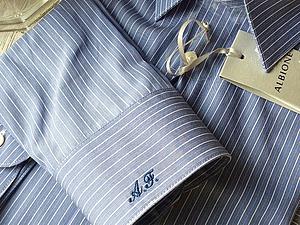 Монограмма на мужской рубашке / сорочке заказать. Больше фото   Ярмарка Мастеров - ручная работа, handmade