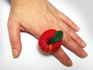 МК по валянию кольца «Греховный плод»   Ярмарка Мастеров - ручная работа, handmade