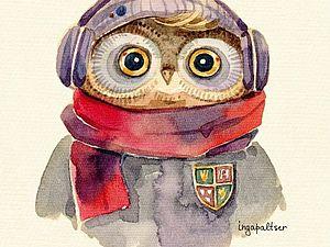 Очаровательные совы Инги Пальцер | Ярмарка Мастеров - ручная работа, handmade