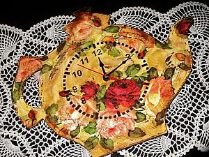 Видео мастер-класс: часы с розами в технике декупаж. Ярмарка Мастеров - ручная работа, handmade.