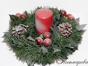 МК Новогодний декор свечи - просто и быстро! | Ярмарка Мастеров - ручная работа, handmade