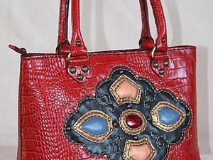 Курс по изготовлению сумок из кожи: сумка с двумя боковыми швами и донышком   Ярмарка Мастеров - ручная работа, handmade