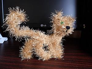 Вязанный пушистый котейка | Ярмарка Мастеров - ручная работа, handmade