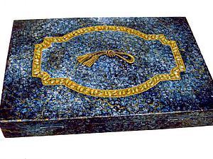 Шкатулка Синяя яшма | Ярмарка Мастеров - ручная работа, handmade