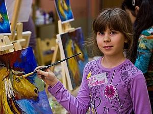 Мастер - класс по живописи. Детские группы. | Ярмарка Мастеров - ручная работа, handmade