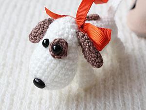 Вяжем миниатюрную собачку амигуруми. Ярмарка Мастеров - ручная работа, handmade.