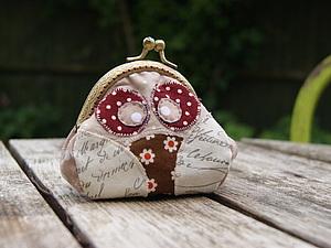Сова. Кошелек, handmade