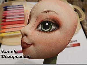 Роспись и тонировка лица текстильной куклы.. Ярмарка Мастеров - ручная работа, handmade.