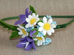 Создаем полевые цветы из фетра. Ярмарка Мастеров - ручная работа, handmade.