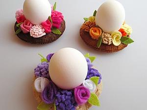 Готовимся к Пасхе: шьем декоративные подставки для яиц. Ярмарка Мастеров - ручная работа, handmade.