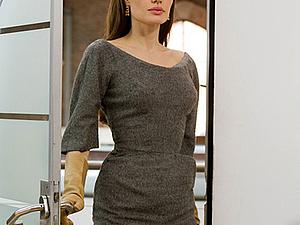 Винтажное серое платье Чарльза Джеймса из фильма