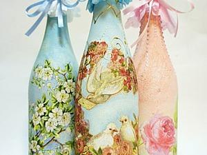Мастер-класс по декорированию бутылочки шампанского в технике декупаж. Золочение фольгой. Ярмарка Мастеров - ручная работа, handmade.