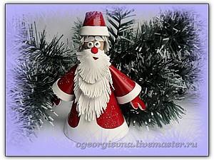 Дед Мороз из кожи | Ярмарка Мастеров - ручная работа, handmade